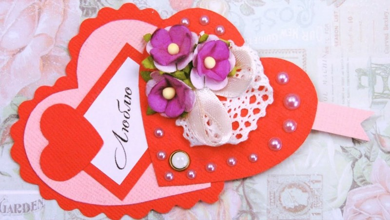 В День святого Валентина принято дарить Валентинки