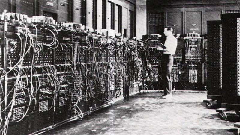 Первый компьютер в мире выглядел весьма своеобразно